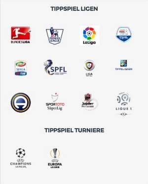 Tippspiel für verschiedene Fussball Ligen